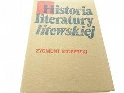 HISTORIA LITERATURY LITEWSKIEJ - Stoberski (1986)