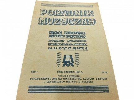 PORADNIK MUZYCZNY NR. 10 1947 r.