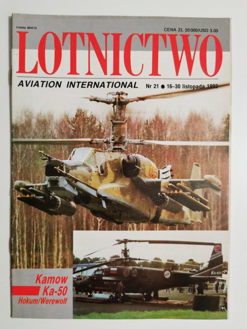 LOTNICTWO NR 21 1992