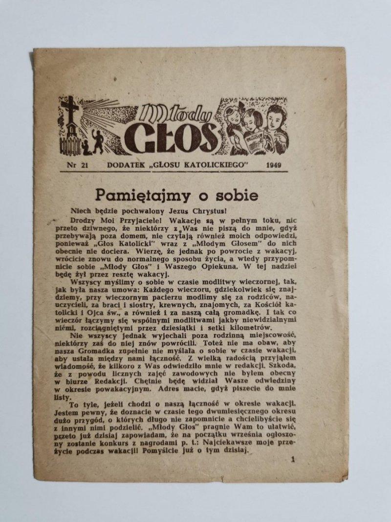 MŁODY GŁOS DODATEK DO GŁOSU KATOLICKIEGO NR 21 1949