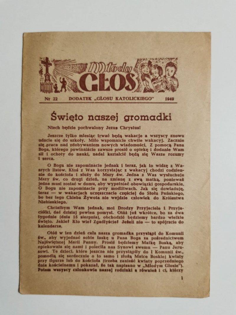 MŁODY GŁOS DODATEK DO GŁOSU KATOLICKIEGO NR 22 1949
