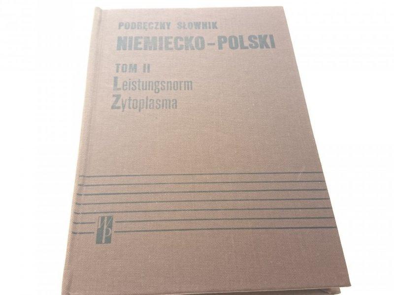 PODRĘCZNY SŁOWNIK NIEMIECKO-POLSKI TOM II