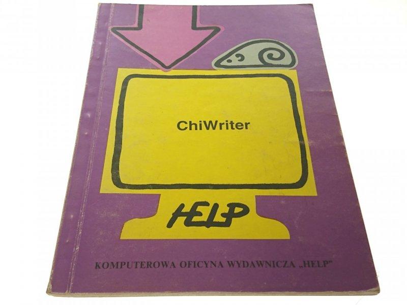 CHIWRITER 3.11 - Joanna Schiller (1990)