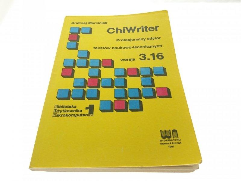 CHIWRITER. PROFESJONALNY EDYTOR...WERSJA 3.16 1991