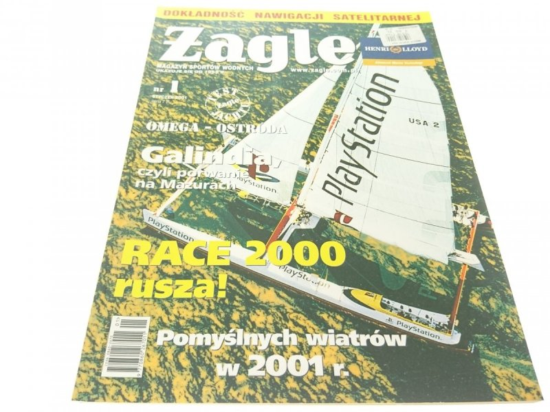 ŻAGLE. MAGAZYN SPORTÓW WODNYCH NR 1 STYCZEŃ 2001