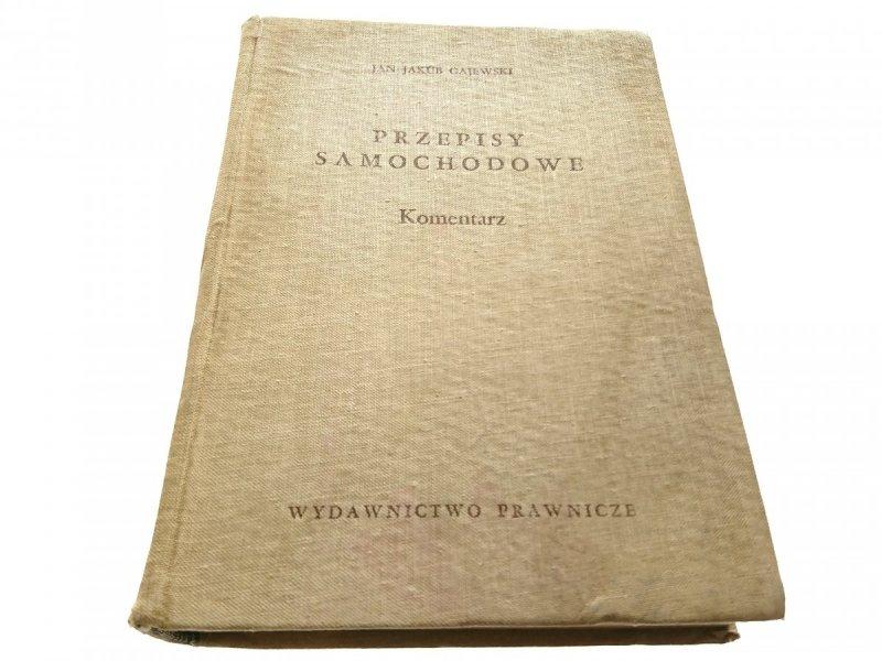 PRZEPISY SAMOCHODOWE. KOMENTARZ - Gajewski 1959