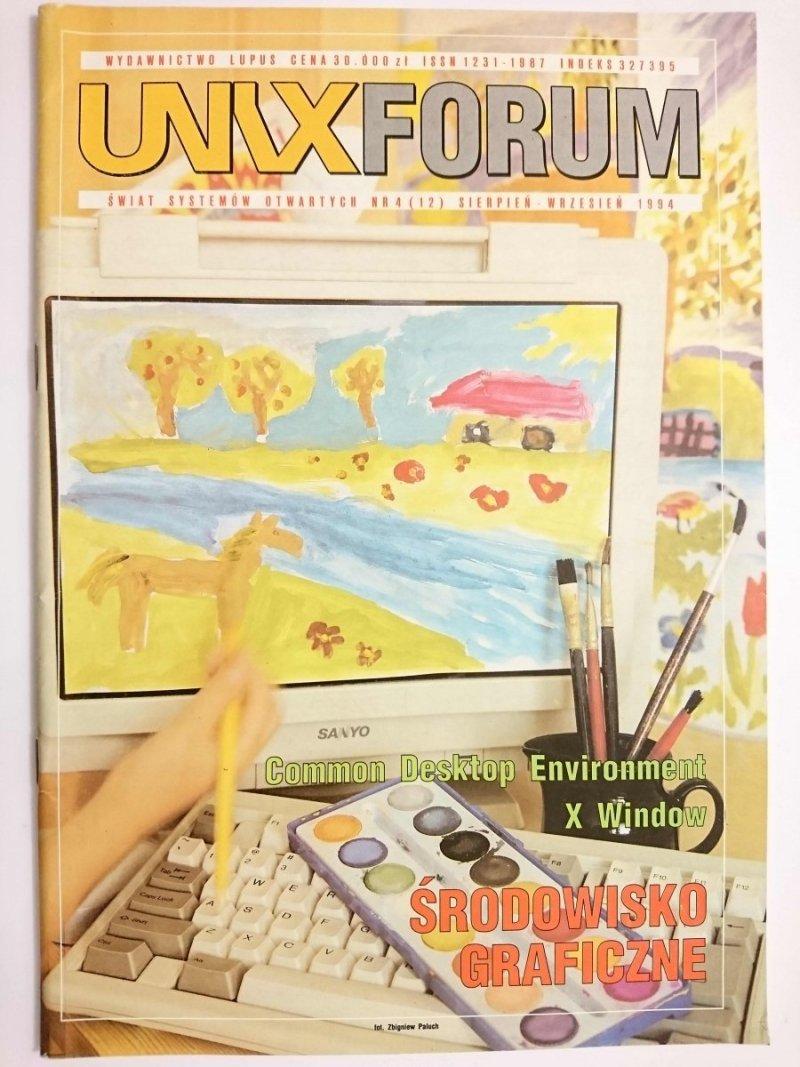 UNIX FORUM NR 4 (12) SIERPIEŃ-WRZESIEŃ 1994