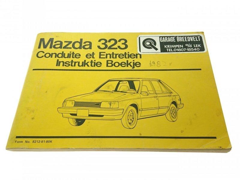 MAZDA 323 CONDUITE ET ENTRETIEN INSTRUKTIE BOEKJE