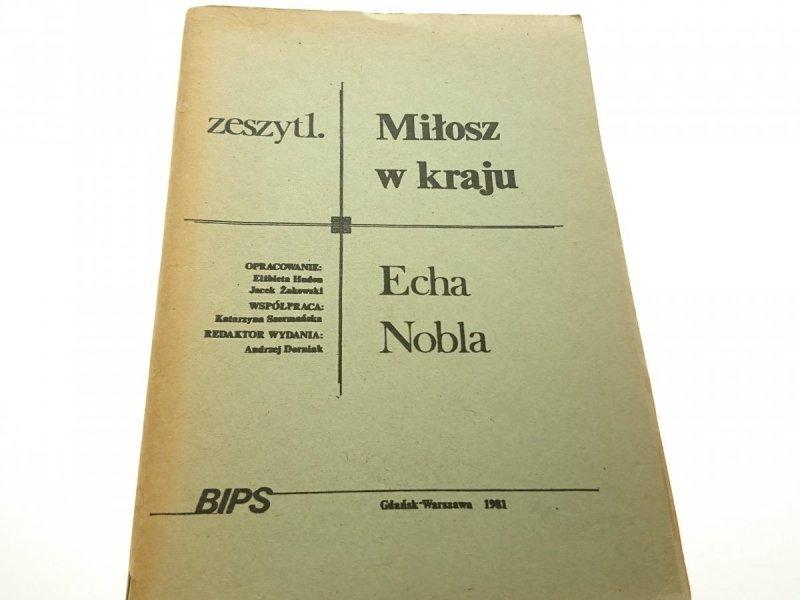 MIŁOSZ W KRAJU. ECHA NOBLA - Elżbietan Hudon 1981