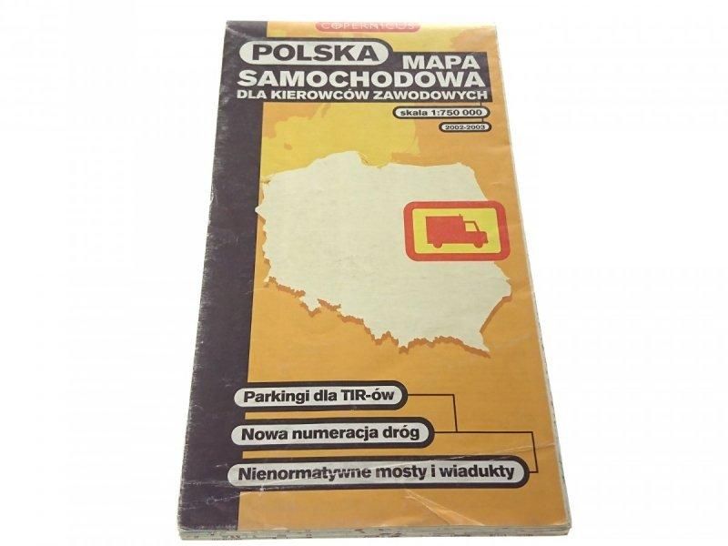 POLSKA MAPA SAMOCHODOWA DLA KIEROWCÓW 2002-2003