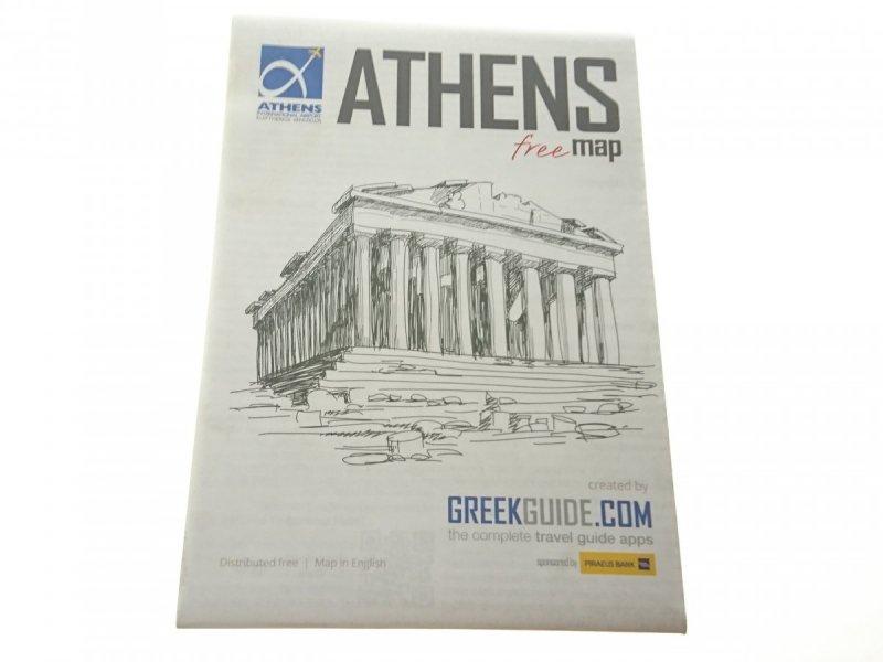 ATHENS. FREE MAP. MAPA Z REKLAMAMI