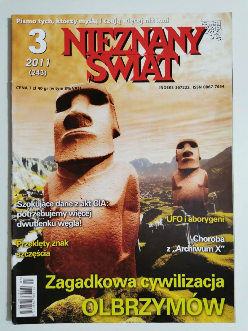 NIEZNANY ŚWIAT NR 3 2011 (243) ZAGADKOWA CYWILIZACJA OLBRZYMÓW