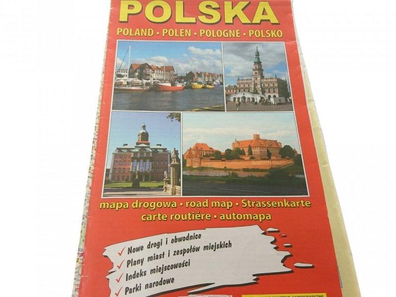 POLSKA. MAPA DROGOWA 1 : 700 000 2013