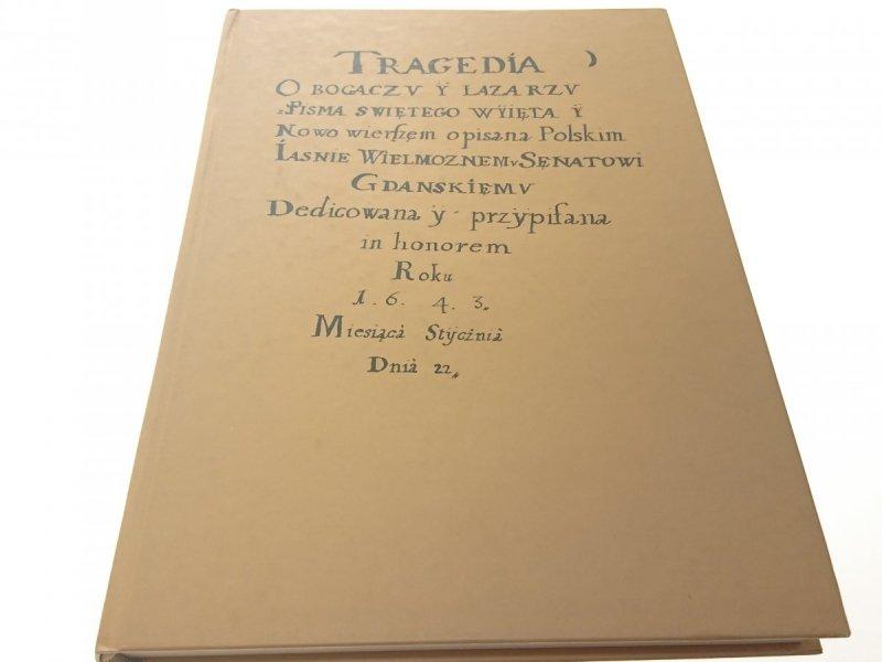 TRAGEDIA O BOGACZU I ŁAZARZU - Jerzy Treder