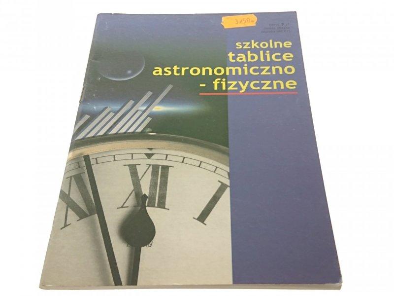 SZKOLNE TABLICE ASTRONOMICZNO-FIZYCZNE