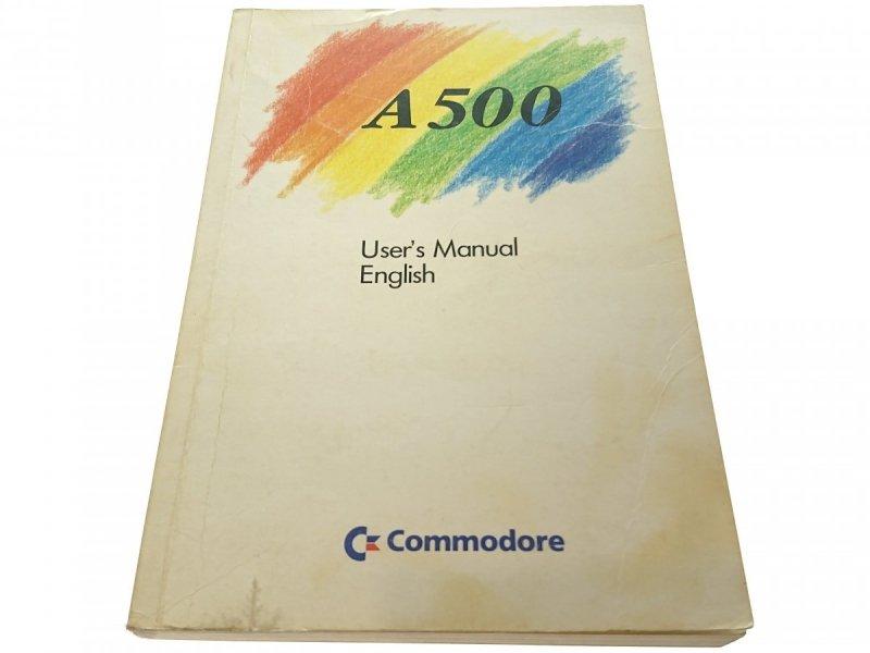 A500 USER'S MANUAL ENGLISH 1987