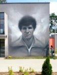 Wielkoformatowy portret Włodzimierza Smolarka powstał przy wykorzystaniu farb firmy GIOLLI !