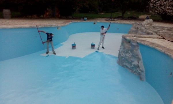 SWIMMING PAINT - 2,5L (najwyższej jakości, wodoodporna farba na bazie żywic chlorokauczukowych do malowania niecek basenów)
