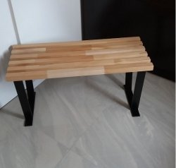 Ławka metalowo drewniana   N