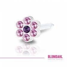 BLOMDAHL - 12-0114-47 DAISY 5mm Light Rose/ Amethys