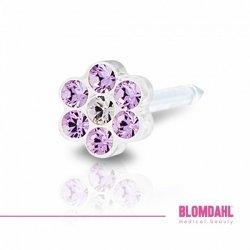 BLOMDAHL - Daisy Violet/ Crystal  12-0114-56  5 mm
