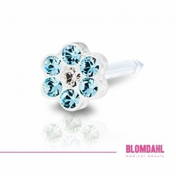 BLOMDAHL - Daisy Aquamarine 12-0114-55 / Crystal 5 mm