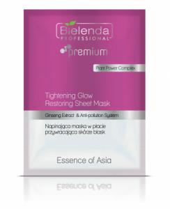 Bielenda Essence of Asia -  Napinająca maska w płacie przywracająca skórze blask 1szt.