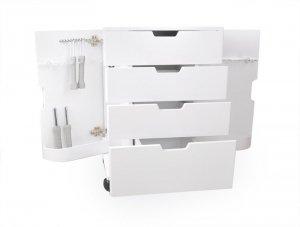 Stolik Kosmetyczny 3050D - szuflady + uchwyty na urz.