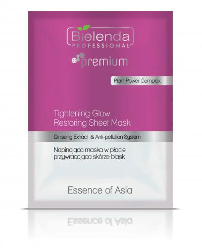 Bielenda Essence of Asia - Napinająca maska w płacie przywracająca skórze blask