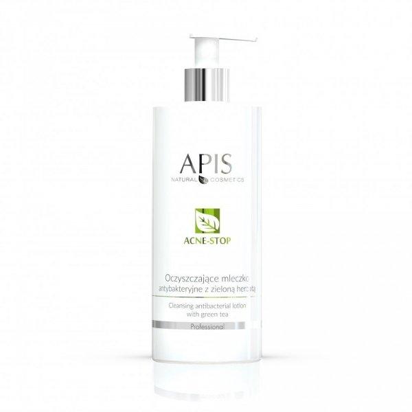 Apis Acne-Stop oczyszczające mleczko antybakteryjne z zieloną herbatą 500 ml