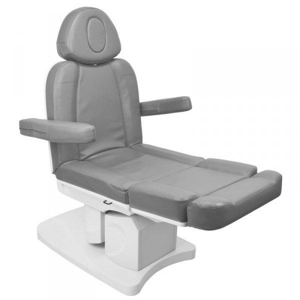 Fotel kosmetyczny elektr. Azzurro 708A 4sil. - szary