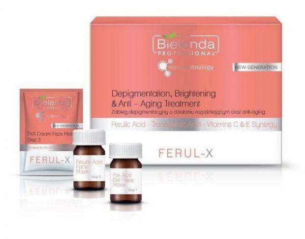 BIELENDA FERUL-X  Zabieg depigmentacyjny o działaniu rozjaśniającym i ANTI-AGING