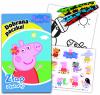 Świnka Peppa Dobrana paczka 2 Złap i koloruj (24 kolorowanki + 24 naklejki + 4 kredki)