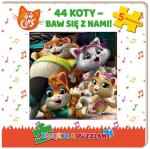 44 Koty Książka z puzzlami Baw się z nami!