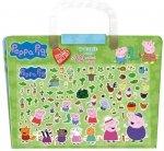 Świnka Peppa Kocham naklejać (plansza i 70 wypukłych naklejek)
