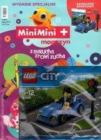 MiniMini+ magazyn Wydanie specjalne + klocki Lego City 30349 niebieskie auto