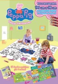 Świnka Peppa Edycja limitowana 1/2016 KOLOROWANKA 139 x 98 cm + flamaster Peppy