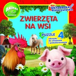 Animal Club Układanka Kolorowanka Zwierzęta na wsi
