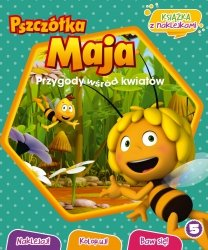 Pszczółka Maja Przygody wśród kwiatów 5 książka z naklejkami