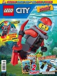 LEGO City magazyn 3/2017 + nurek z rekinem