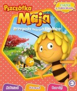 Pszczółka Maja Przygody wśród kwiatów 3 książka z naklejkami