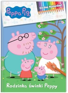 Świnka Peppa Dodaj Kolorów! Rodzinka świnki Peppy