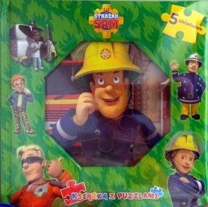 Strażak Sam Książka z puzzlami (zielona)