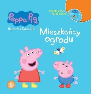 Świnka Peppa Bajeczki z Książeczki 6 Mieszkańcy ogrodu - książka z płytą DVD