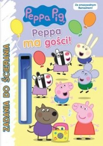 Świnka Peppa Zadania do ścierania Peppa ma gości!