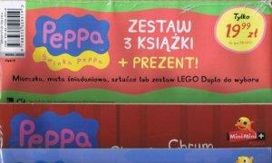Świnka Peppa zestaw 3 książki + LEGO duplo (nr 4)
