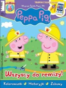 Świnka Peppa magazyn 7/2016 Wszyscy do remizy! + telefon z kluczykami