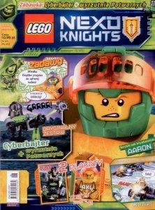 LEGO Nexo Knights magazyn 4/2018 + Cyberbajter + wyrzutnia Potwornych