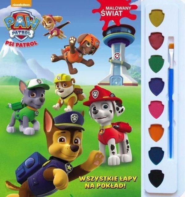 Psi Patrol Malowany świat 1 Wszystkie łapy na pokład (z farbkami)