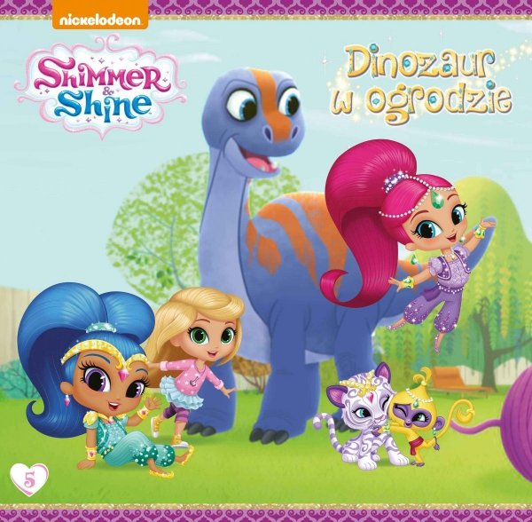Shimmer i Shine 5 Dinozaur w ogrodzie